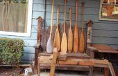 Paleta de la canoa de madera flotante Conecte con el pasado.