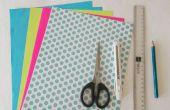 Papel DIY manualidades: Tutorial de caja de joyería papiroflexia
