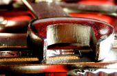 Llaves de rojo brillantes