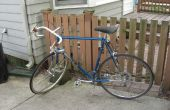 Reemplazo de neumático de la bici y el tubo de una bicicleta de carretera