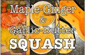 Arce de jengibre y ajo mantequilla Squash