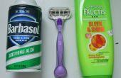 Usar acondicionador como crema de afeitar