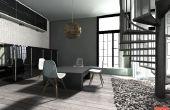 Diseño moderno/contemporáneo en sala 3D