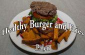 Paleo hamburguesas y papas fritas