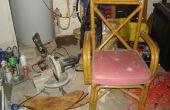 Convertir una vieja silla en un soporte de la Sierra de inglete portátil