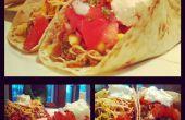 Desordenado de tiró Tacos de cerdo