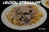 Stroganoff de carne de venado