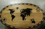 Mundo mapa mesa