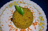 Dal una olla verduras arroz (estilo indio del Sur)