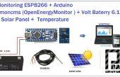 ESP8266 + Cargador Solar Arduino a Emoncms