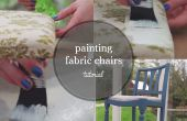 Cómo pintar una silla de tela