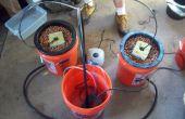 Cómo a hacer A múltiples cubo tapa alimentación crecen sistema hidropónico