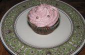 Chocolate Cupcakes de alivio de tensión con crema de arándanos