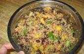 Ensalada de quinua de frijol negro y mango