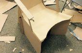 Diseño de una silla de cartón funcional