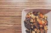 Fácil de hígado con verduras de raíz