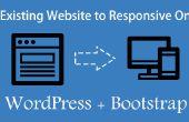 Convertir un sitio web existente a responsiva WordPress usando Bootstrap
