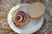 Hamburguesas de bacon y queso azul