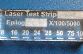 ¿Poder de corte de tu grabador del laser con las tiras de prueba de pista