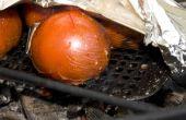 Tomates asados del fuego (al dente)