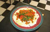 Desayuno de huevo zanahoria al pesto