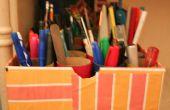 Organizador de herramientas de la escritura