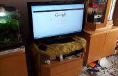 PC-TV ordenador escondido en un cajón para su televisor