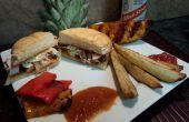 Sándwiches de pollo Jerk jamaicano + Chutney de