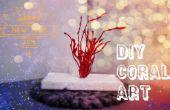 DIY arte Coral de pegamento caliente