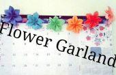 Guirnalda de flores de origami