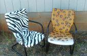 Aerosol pintado sillas de patio