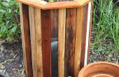 Elegante y bajo costo 55 galones tambor jardineras