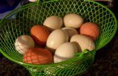 Difícil hervir huevos con huevos frescos
