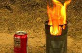 Gasificador de madera portátil estufa hecha de latas de