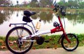 Hacer bicicleta