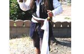 Cómo hacer un disfraz de capitán Jack Sparrow en un presupuesto zapato!