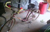 Carretera bicicleta convertida a una bicicleta de confort
