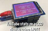 Mostrar las estadísticas de YouTube en un 320 x 240 Pixel LCD pantalla conectada a un Arduino Uno