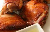 Motivo de piel crujiente pollo con salsa de jengibre