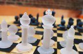 Modelos de pieza de ajedrez impreso 3D