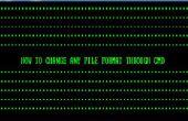 Cómo cambiar el formato de archivo a través de CMD
