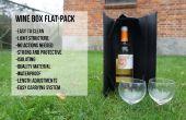 Caja plano-embale de vino