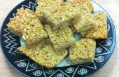 Cuadrados crujientes de arroz