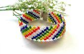 Cómo hacer que una semilla de 2 agujeros de arco iris a mano abalorios pulsera amplia para el verano