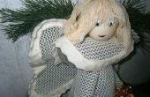 El ángel de la Navidad: Un lindo accesorio hecho a mano para decorar su hogar