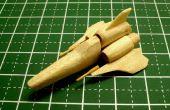 Mini BSG Colonial Viper Mk II Popsicle Stick modelo