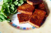 Tofu marinado con ajedrea