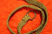 Cinturón de paracord tejido fácil