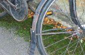 Reciclado de cuero barro aleta para bicicleta Vintage