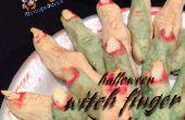 Galletas de dedos de bruja de Halloween fácil